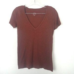 J. Crew Vintage Cotton   V-neck short sleeve tee